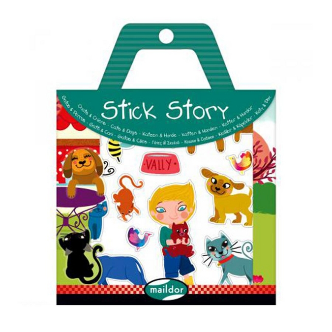 Stickers repositionnables Stick Story thème chiens et chats