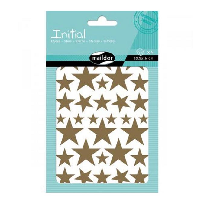Gommettes Initial étoiles x 4 planches