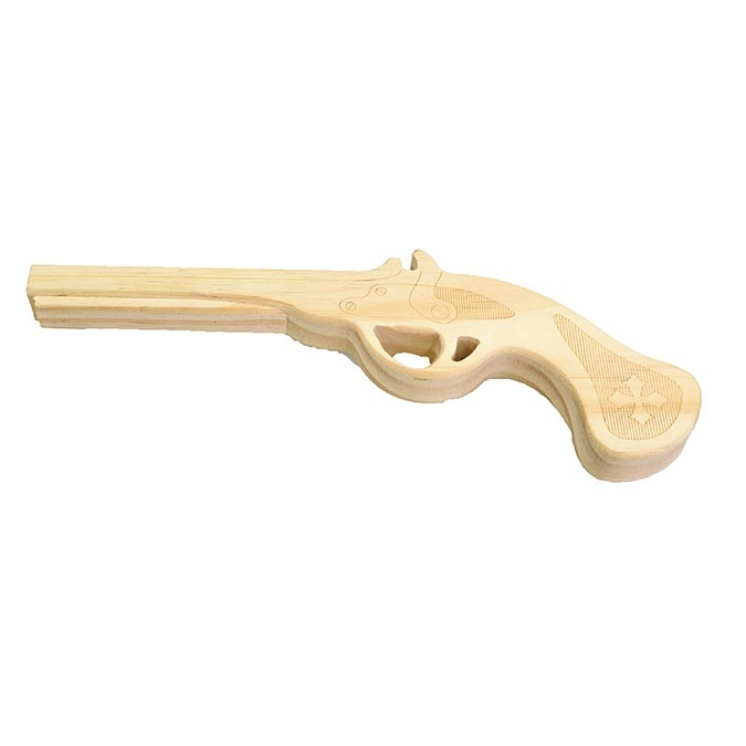 Pistolet de pirate en bois 18,5 x 11 cm