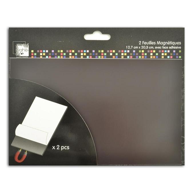 Feuille magnétique adhésive 12,7 x 20,3 cm