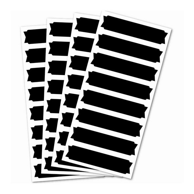 STickers ardoise - bannières 32 pcs