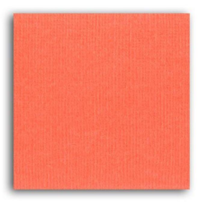 Feuille de papier uni mandarine 30,5 x 30,5 cm