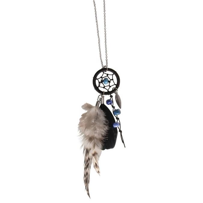 Pendentif attrape-rêves en kit Luna n°1 - chaîne argent