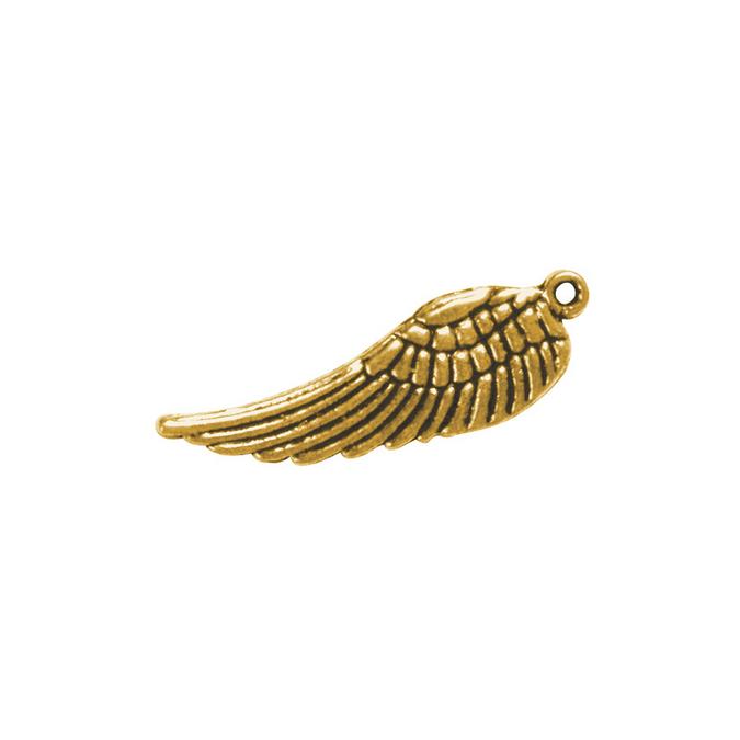 Pendentif aile en métal or 15 mm - 5 pièces