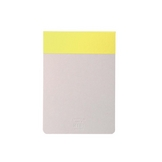 Bloc-notes Memo pad jaune 12 x 8,5 cm