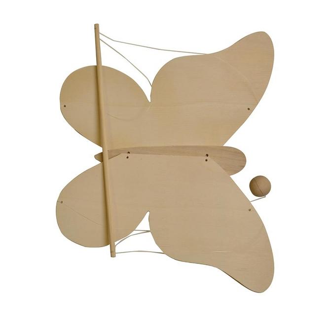 Mobile à monter en bois forme de papillon