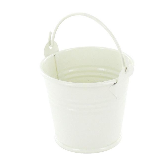 Seau en zinc blanc 5,5 x 4,5 cm