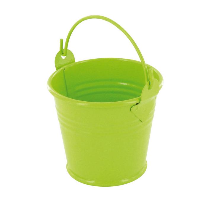 Seau en zinc vert anis 5,5 x 4,5 cm