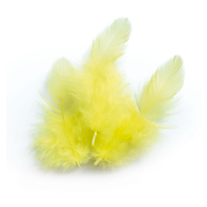 Plume jaune +/- 10 cm - 3 g