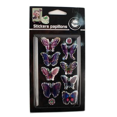 stickers 3d papillon violet 8 pi ces ctop chez rougier pl. Black Bedroom Furniture Sets. Home Design Ideas