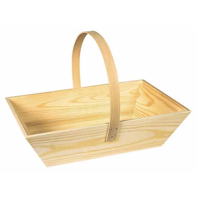 Panier en bois 29 x 20 x 22,5 cm