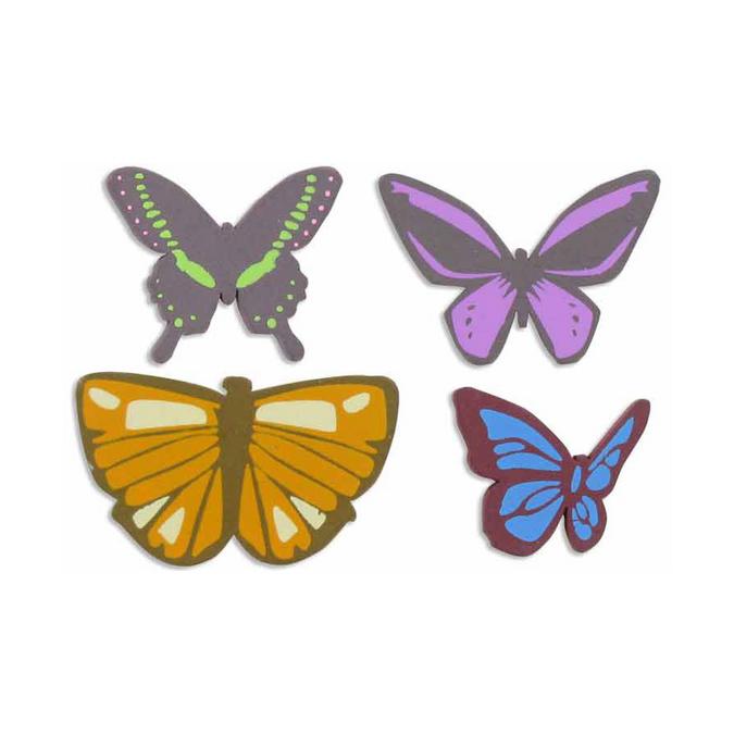 Embellissement papillon 2 à 4,5 cm - 8 pièces