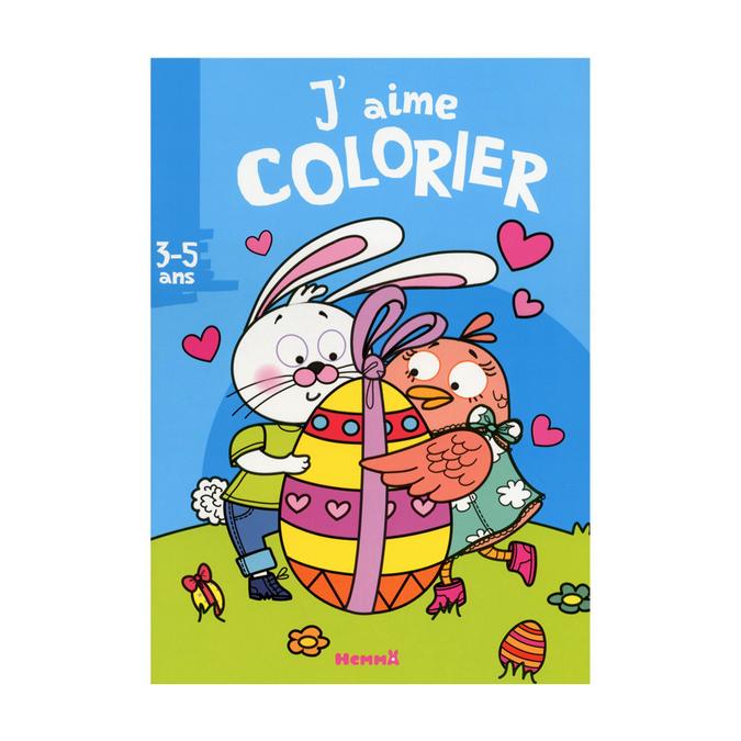 Livre J'aime colorier thème pâques