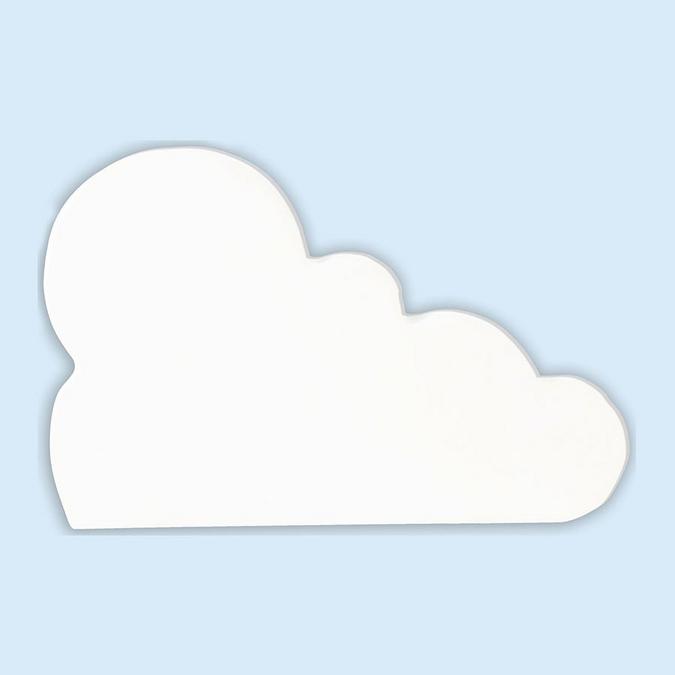 Objet en papier mâché symbole nuage 12 cm