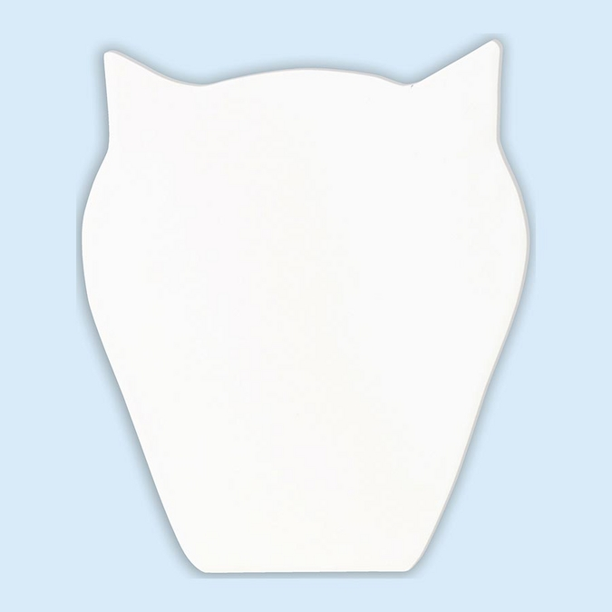 Objet en papier mâché symbole chouette 12 cm