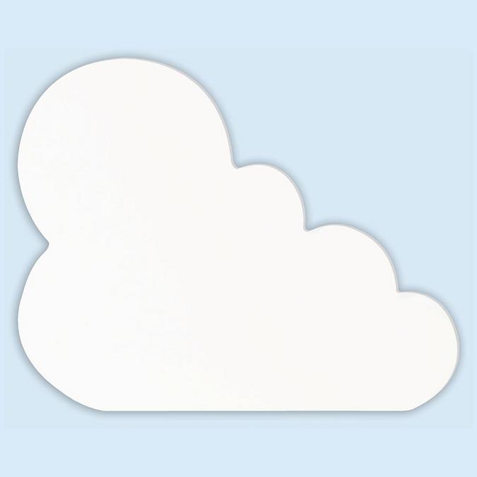 Objet en papier mâché symbole nuage 20.5 cm