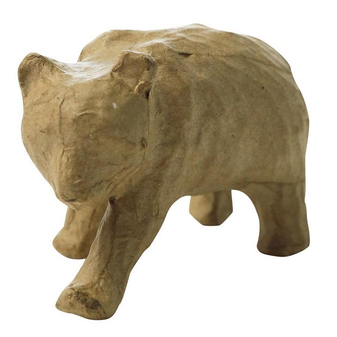 Objet en papier mâché panda 7 x 9,5 x 5 cm