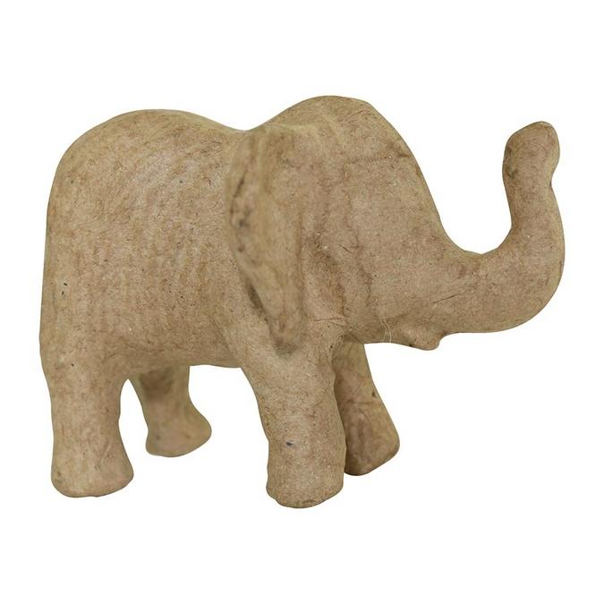 Objet en papier mâché éléphanteau 7 x 10 x 8 cm