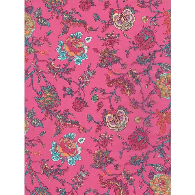 Papier Décopatch 30 x 40cm 711 Fleurs sur fond rose