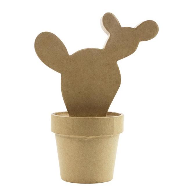 Objet en papier mâché cactus Western 18 x 8 x 14 cm