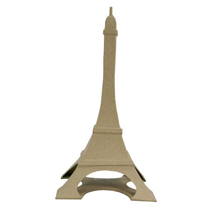 Objet en papier mâché tour Eiffel 32 x 17 x 17 cm