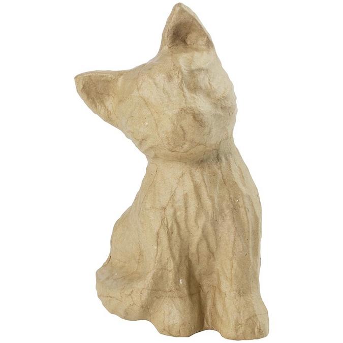 Objet en papier mâché chaton 15,5 x 13 x 14 cm