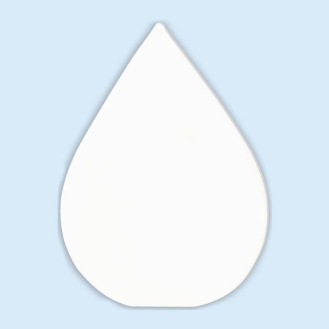 Objet en papier mâché symbole goutte 12 cm