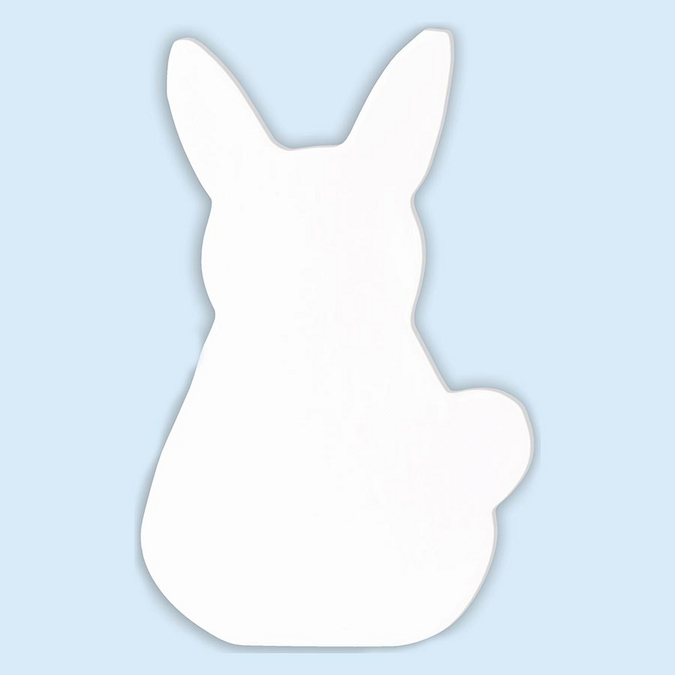 Symbole lapin en papier mâché - 12 cm
