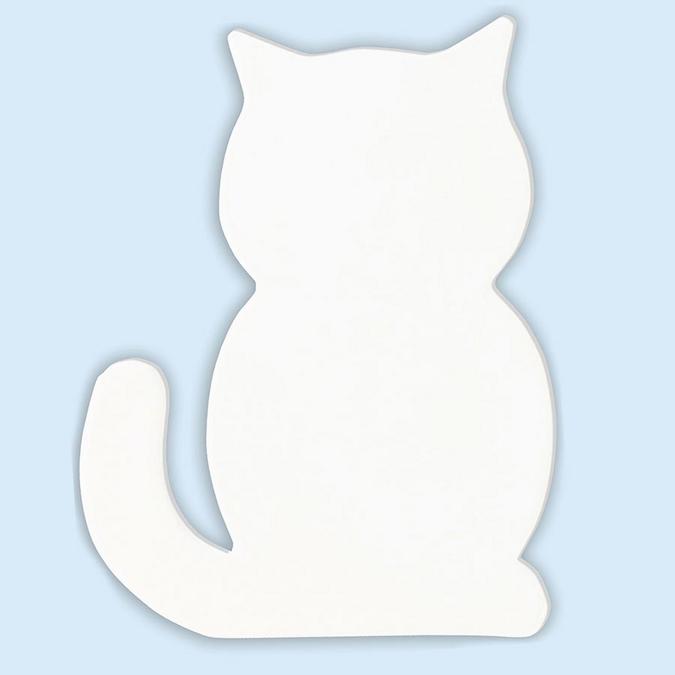 Objet en papier mâché symbole chat 12 cm