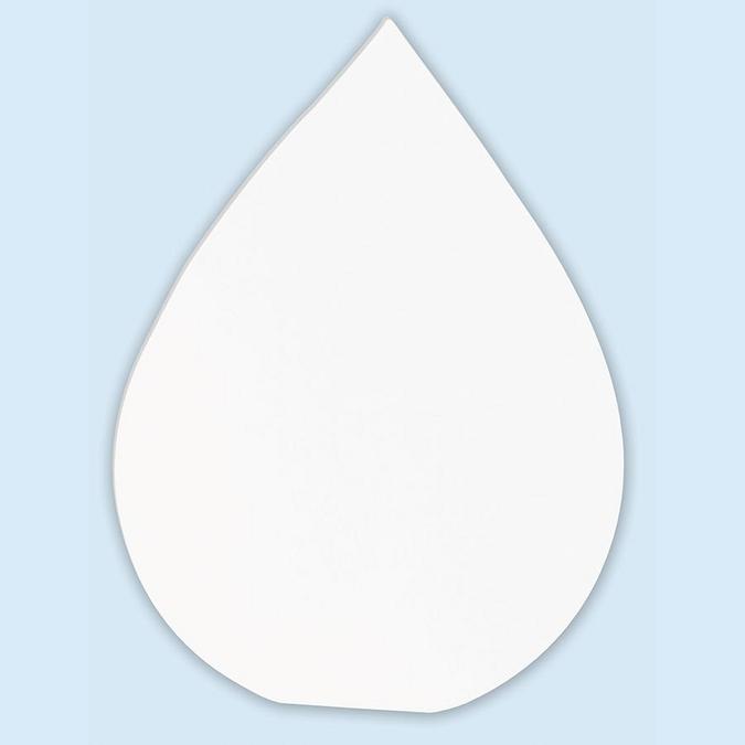 Objet en papier mâché symbole goutte 20.5 cm