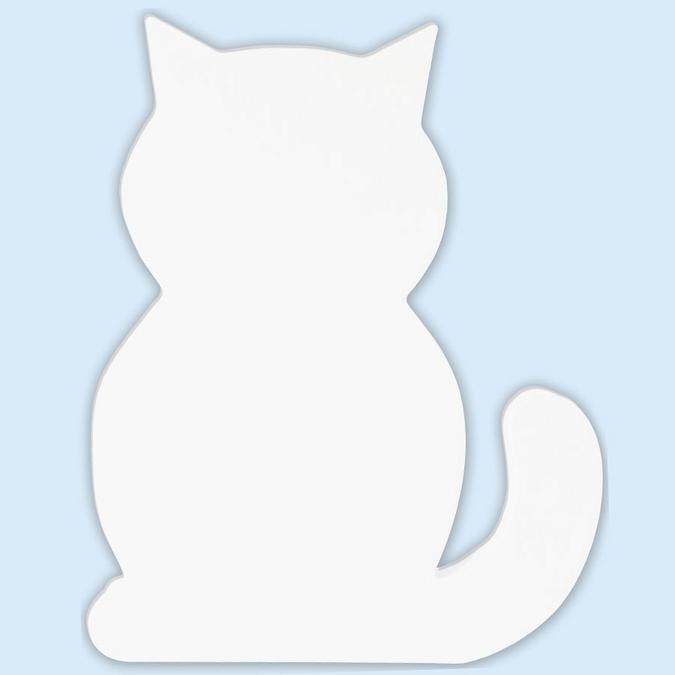 Objet en papier mâché symbole chat 20.5 cm