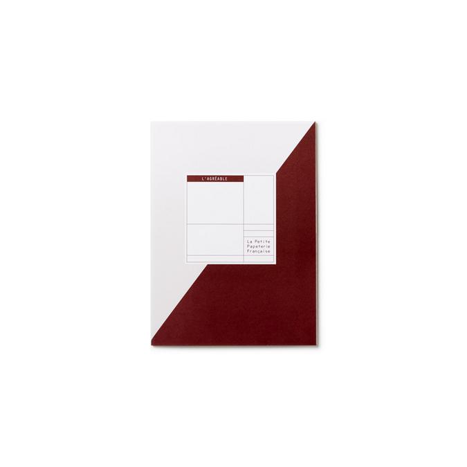 Carnet à projets 16,5 x 22 cm - L'agréable bordeaux