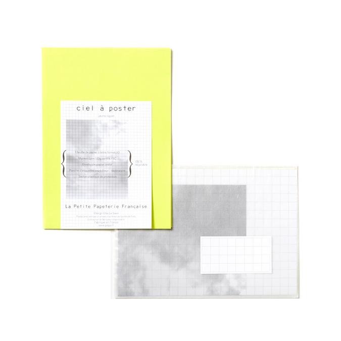 Papier à lettre A3 - Le ciel à poster jaune rayon