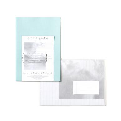 papier lettre a3 le ciel poster bleu brume la petite papeterie fran aise chez rougier pl. Black Bedroom Furniture Sets. Home Design Ideas