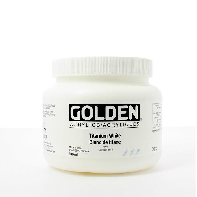 Peinture acrylique Heavy Body 946 ml 1380 - Blanc de titane