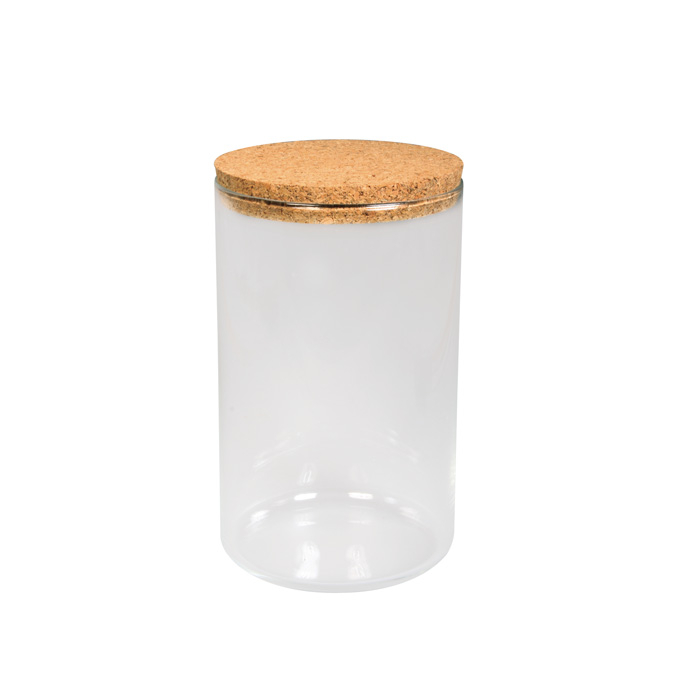 Récipient en verre 9 x 16 cm + couvercle