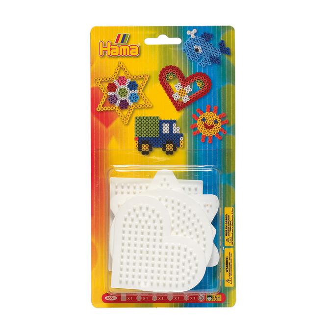 Plaque perle à repasser Midi 5 formes géométriques