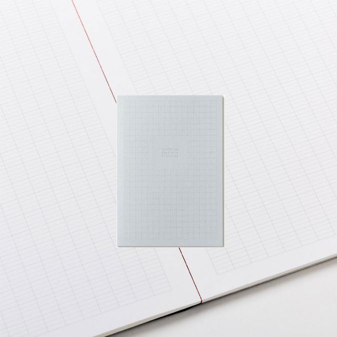 Bloc papier A5 grands carreaux - Le bloc feuilles gris