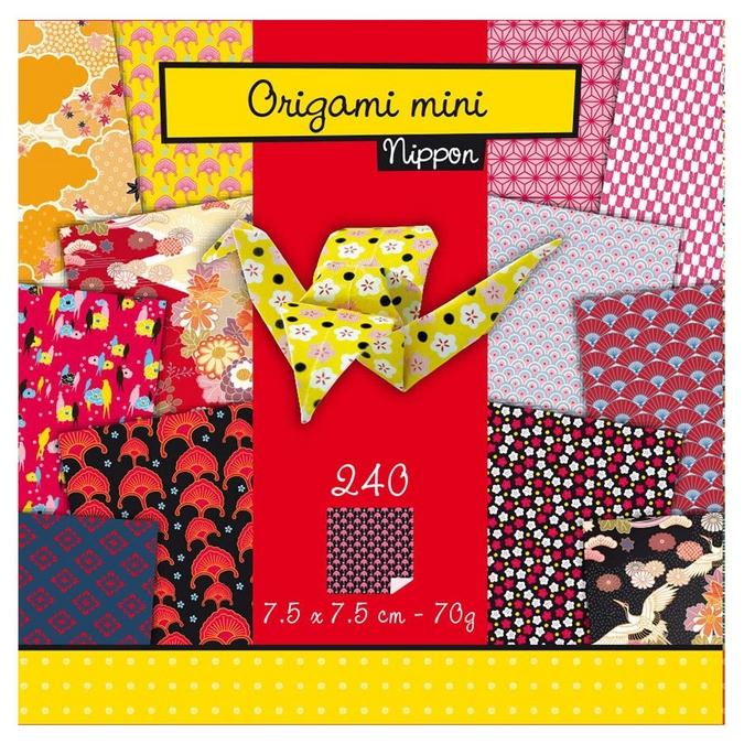Papier origami thème Nippon 240 feuilles 7,5 x 7,5 cm - 70 g/m²