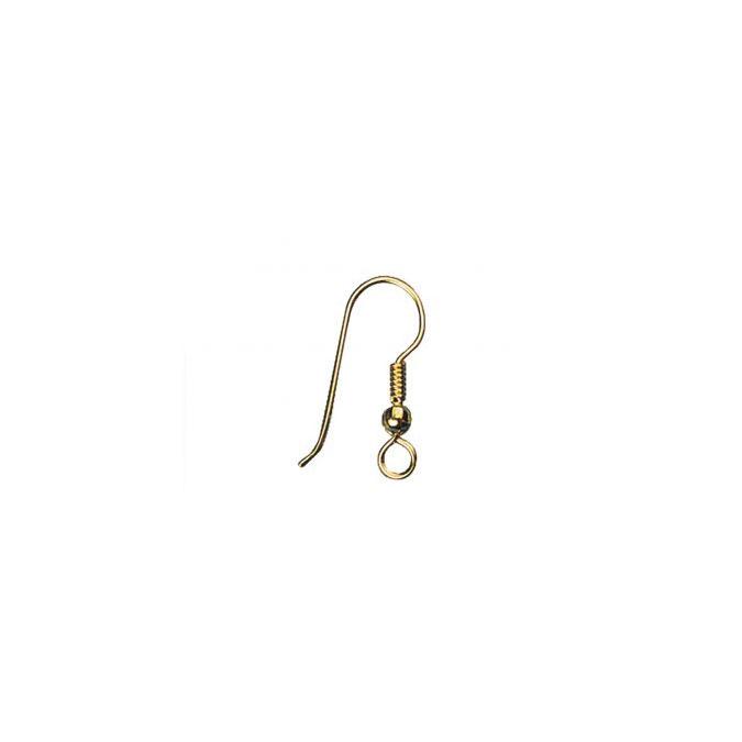 Crochet d'oreille doré 20 mm - 6 pièces