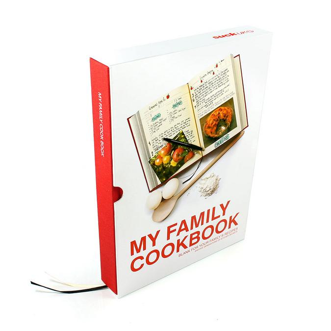 Livre pour Mes recettes rouge 216 pages - 16 x 22 x 3 cm
