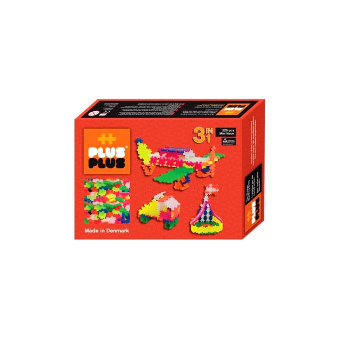 Jeu de construction Box Mini neon 3 en 1 - 220 pièces