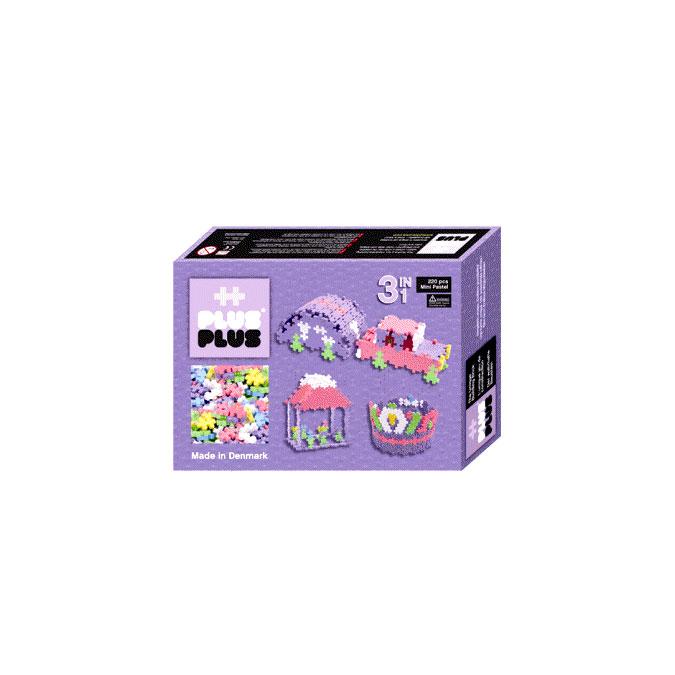 Jeu de construction Box Mini pastel 3 en 1 - 220 pièces