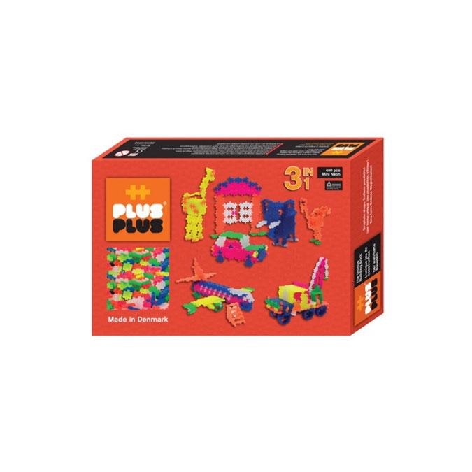 Jeu de construction Box Mini neon 3 en 1 - 480 pièces