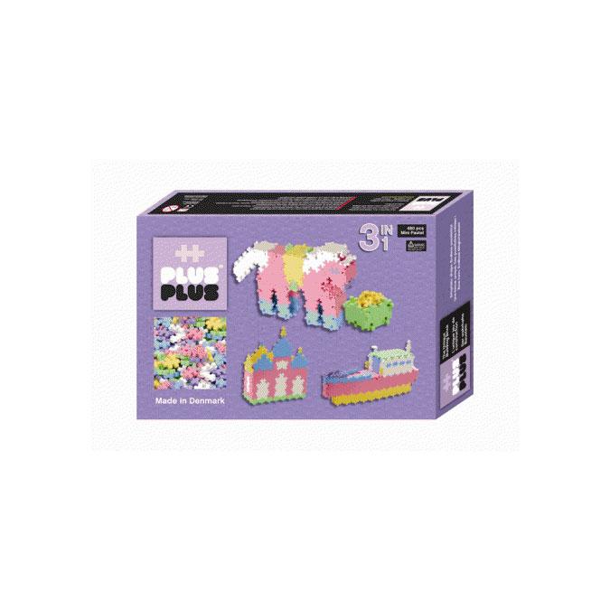 Jeu de construction Box Mini pastel 3 en 1 - 480 pièces