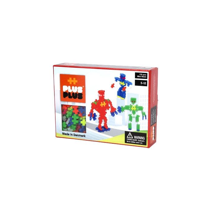 Jeu de construction Box Mini robot neon - 170 pièces