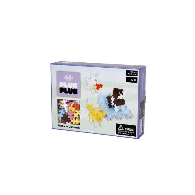 Jeu de construction Box Mini animaux pastel 170 pièces