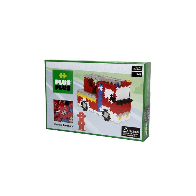 Jeu de construction Box Mini pompiers basic 760 pièces
