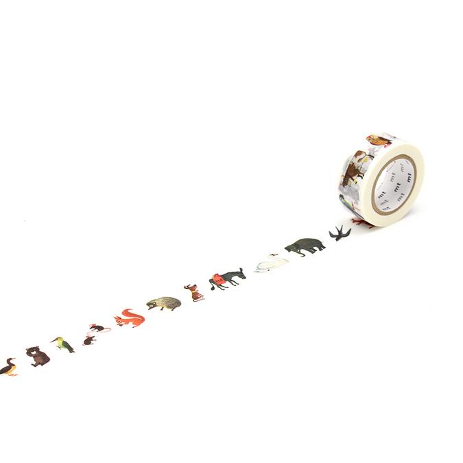 Ruban décoratif adhésif - Alain motif animaux