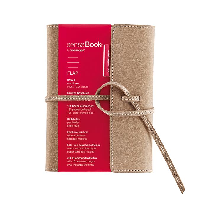 Carnet Sensebook ligné rabat cuir